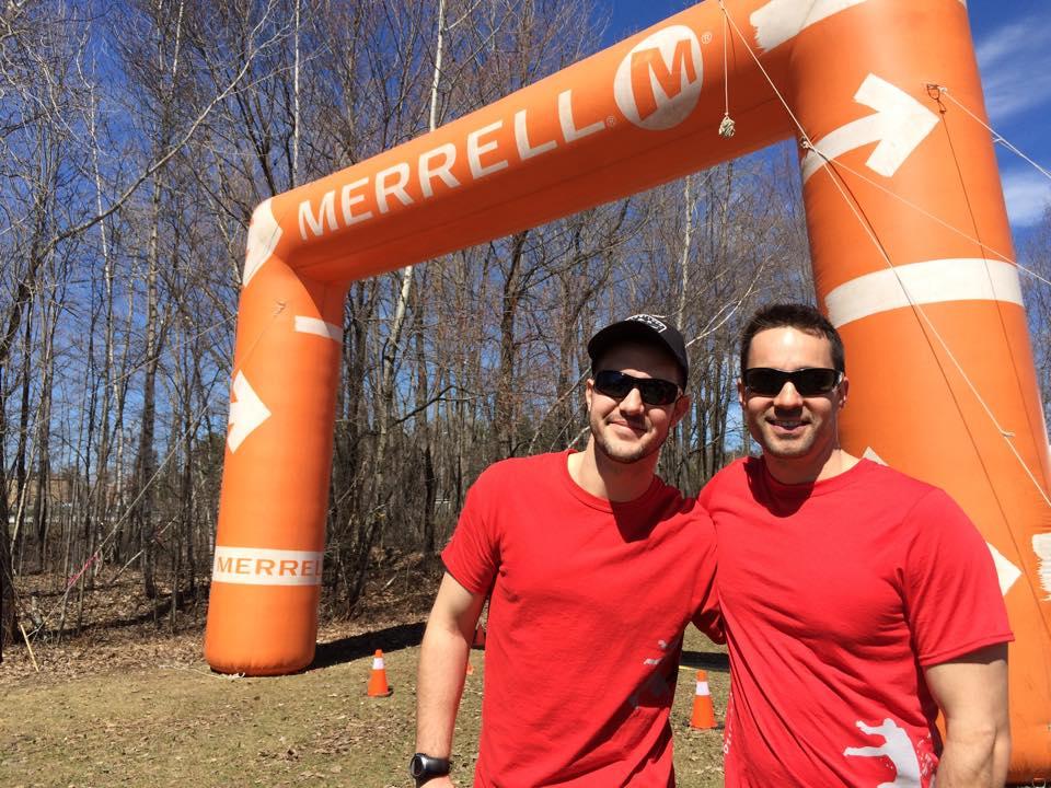 Olivier Morin et Christophe Allen, organisateurs de la Course des vikings du CSTJ. (Photo : gracieuseté)