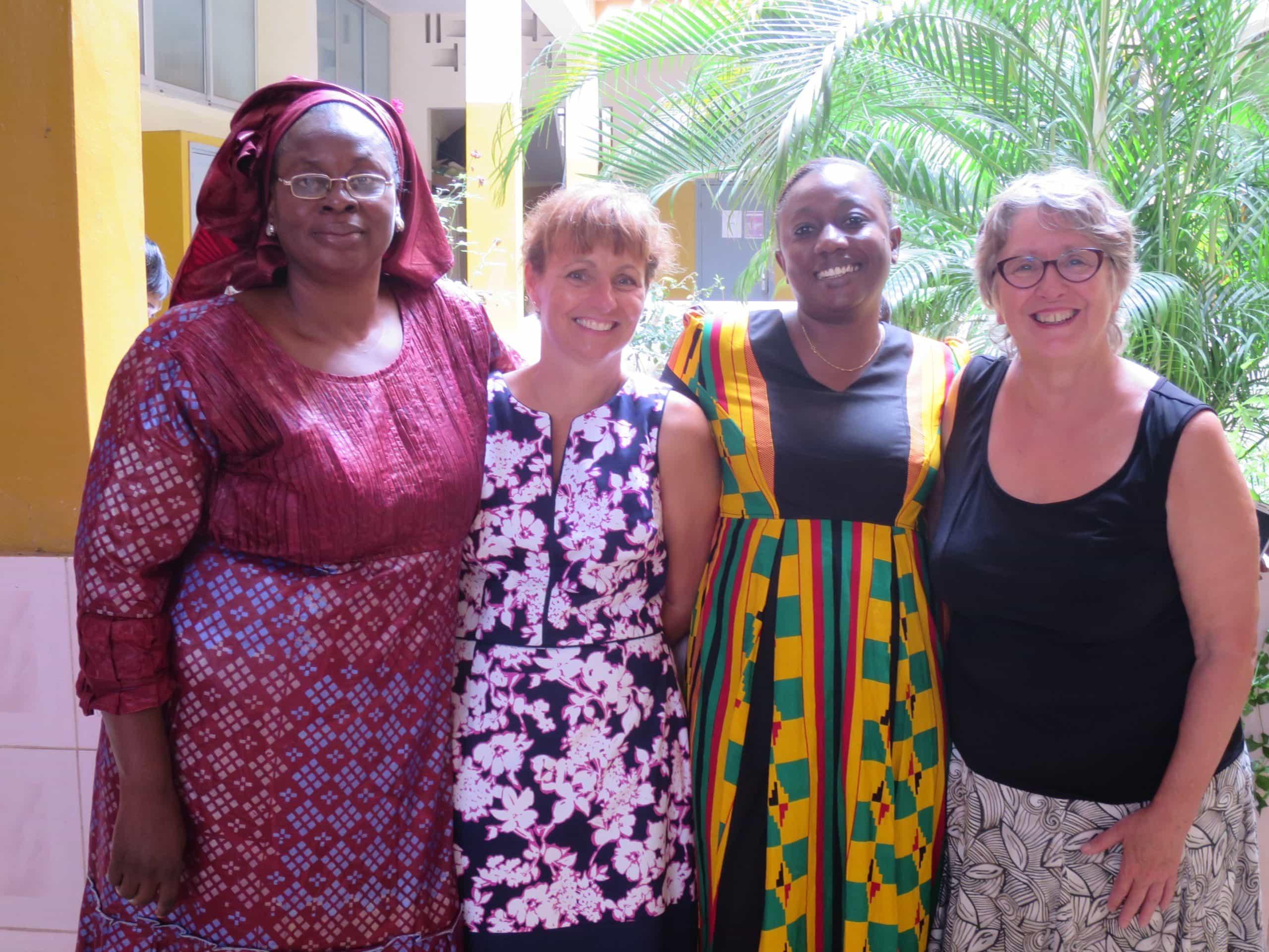 Oumou Konaré, Anne Gagnon, Tiguida Sissoko et Isabelle Brabant