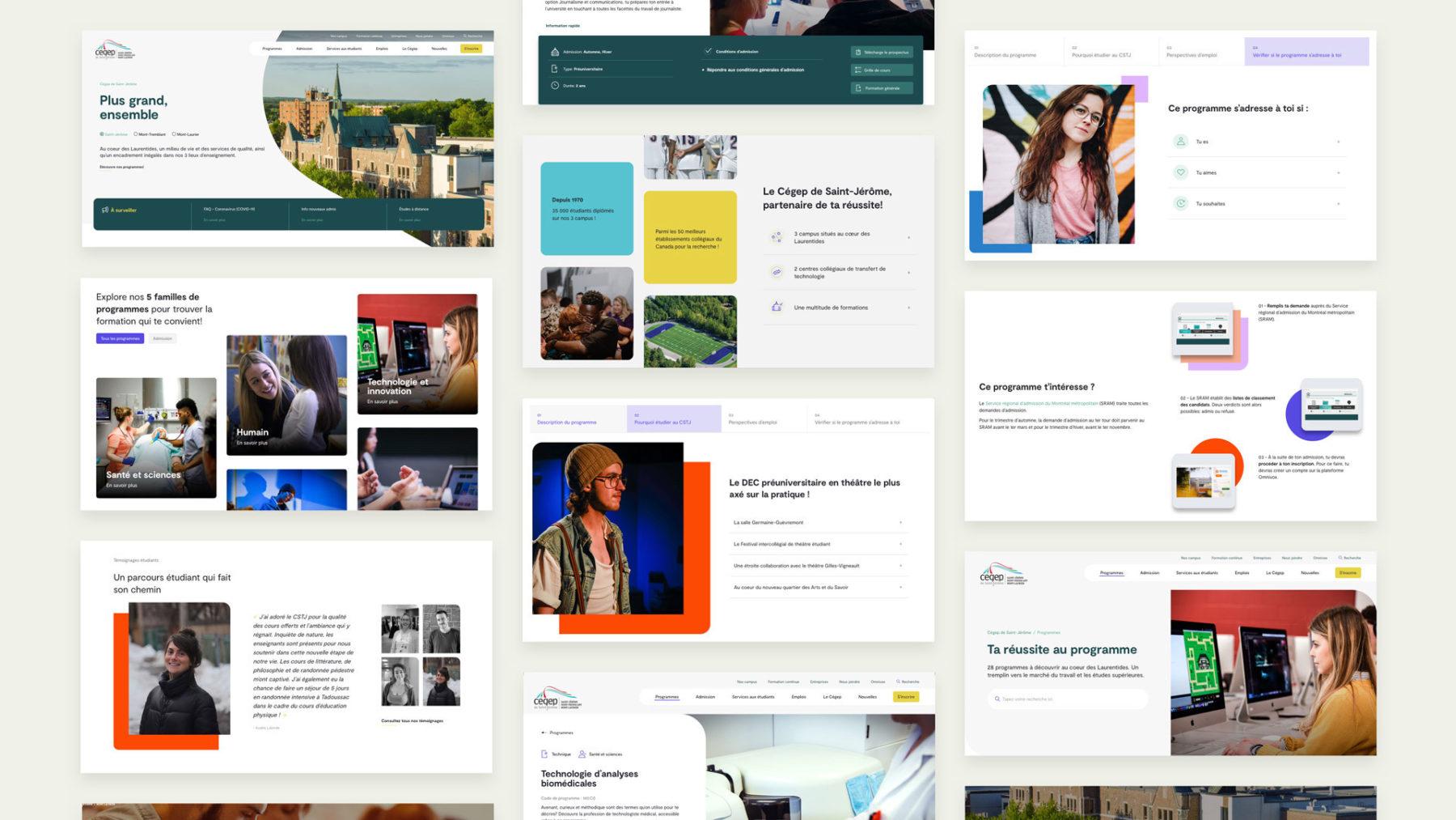 Visuel du nouveau site Web