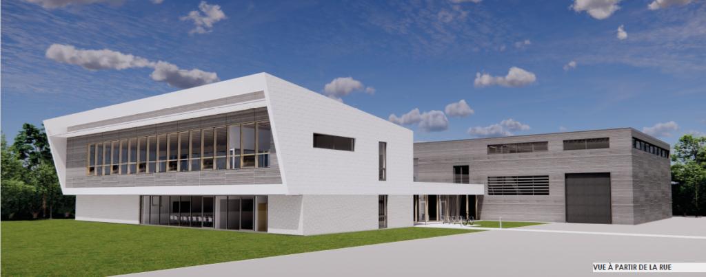 La perspective du nouveau bâtiment de l'IVI.