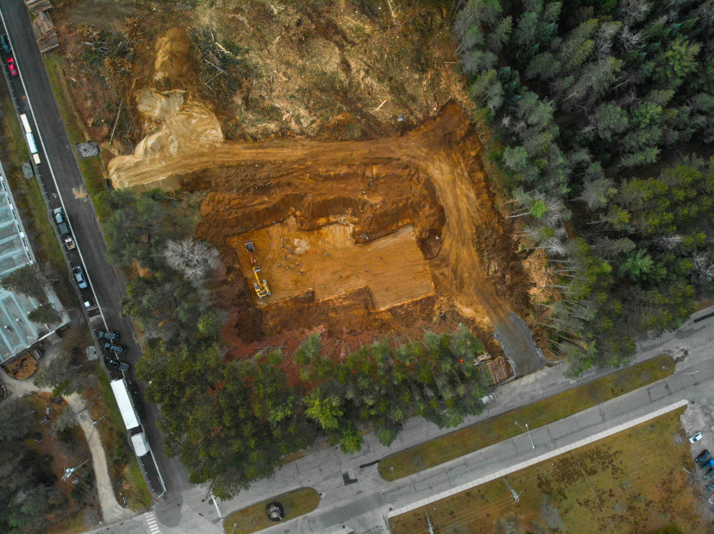 Vue aérienne du futur bâtiment du CCMT